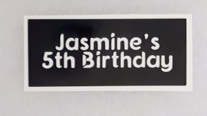 1 - 100  x Personalised birthday party word stencils